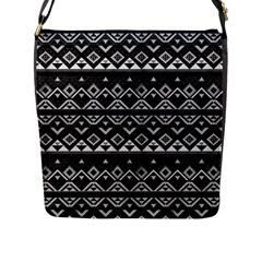 Aztec Influence Pattern Flap Messenger Bag (l)  by ValentinaDesign