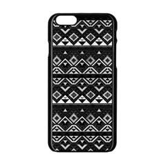Aztec Influence Pattern Apple Iphone 6/6s Black Enamel Case by ValentinaDesign