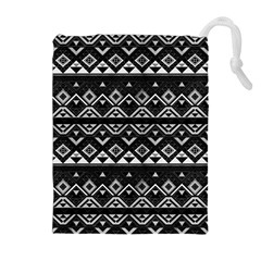 Aztec Influence Pattern Drawstring Pouches (extra Large) by ValentinaDesign