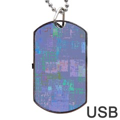 Abstract Art Dog Tag Usb Flash (two Sides) by ValentinaDesign