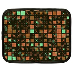 Small Geo Fun A Netbook Case (large) by MoreColorsinLife