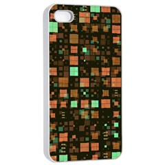 Small Geo Fun A Apple Iphone 4/4s Seamless Case (white) by MoreColorsinLife