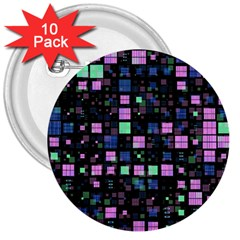 Small Geo Fun B 3  Buttons (10 Pack)  by MoreColorsinLife