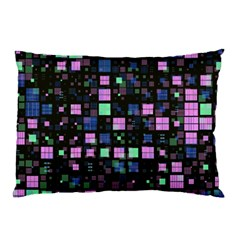 Small Geo Fun B Pillow Case (two Sides) by MoreColorsinLife