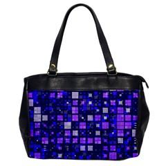 Small Geo Fun E Office Handbags by MoreColorsinLife
