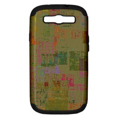 Abstract Art Samsung Galaxy S Iii Hardshell Case (pc+silicone) by ValentinaDesign