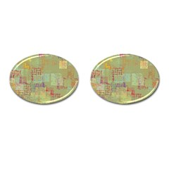 Abstract Art Cufflinks (oval) by ValentinaDesign