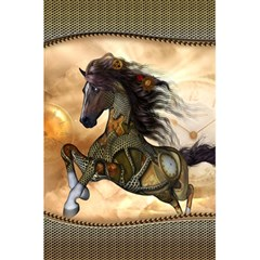 Steampunk, Wonderful Steampunk Horse With Clocks And Gears, Golden Design 5 5  X 8 5  Notebooks by FantasyWorld7