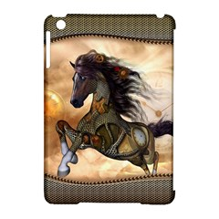 Steampunk, Wonderful Steampunk Horse With Clocks And Gears, Golden Design Apple Ipad Mini Hardshell Case (compatible With Smart Cover) by FantasyWorld7