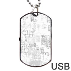 Abstract Art Dog Tag Usb Flash (one Side) by ValentinaDesign