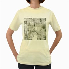 Abstract Art Women s Yellow T Shirt by ValentinaDesign