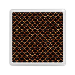 Scales1 Black Marble & Copper Foil Memory Card Reader (square)  by trendistuff