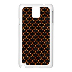 Scales1 Black Marble & Copper Foil Samsung Galaxy Note 3 N9005 Case (white) by trendistuff