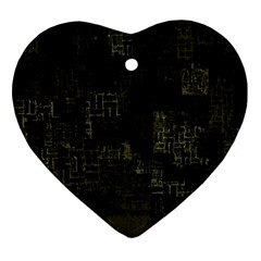 Abstract Art Ornament (heart) by ValentinaDesign