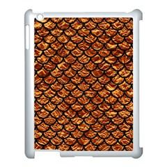 Scales1 Black Marble & Copper Foil (r) Apple Ipad 3/4 Case (white) by trendistuff