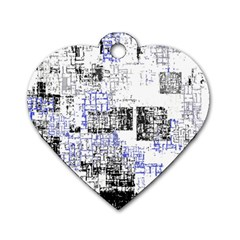 Abstract Art Dog Tag Heart (one Side) by ValentinaDesign