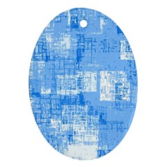 Abstract Art Ornament (oval) by ValentinaDesign