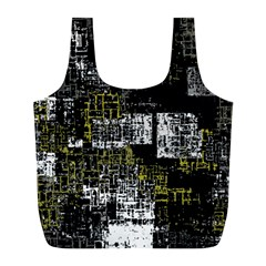 Abstract Art Full Print Recycle Bags (l)  by ValentinaDesign