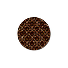 Scales2 Black Marble & Copper Foilscales2 Black Marble & Copper Foil Golf Ball Marker (10 Pack) by trendistuff