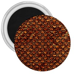 Scales2 Black Marble & Copper Foil (r) 3  Magnets by trendistuff