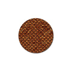 Scales2 Black Marble & Copper Foil (r) Golf Ball Marker by trendistuff