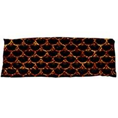 Scales3 Black Marble & Copper Foil Body Pillow Case Dakimakura (two Sides) by trendistuff