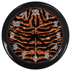 Skin2 Black Marble & Copper Foil Wall Clocks (black) by trendistuff