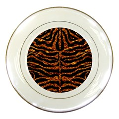 Skin2 Black Marble & Copper Foil Porcelain Plates by trendistuff