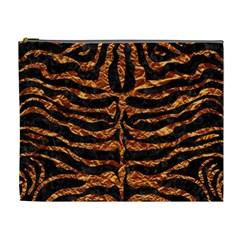 Skin2 Black Marble & Copper Foil Cosmetic Bag (xl) by trendistuff