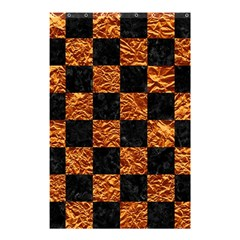 Square1 Black Marble & Copper Foil Shower Curtain 48  X 72  (small)  by trendistuff