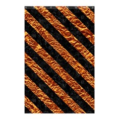 Stripes3 Black Marble & Copper Foil (r) Shower Curtain 48  X 72  (small)  by trendistuff