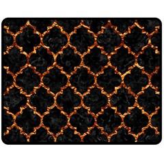 Tile1 Black Marble & Copper Foil Double Sided Fleece Blanket (medium)  by trendistuff