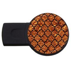 Tile1 Black Marble & Copper Foil (r) Usb Flash Drive Round (2 Gb) by trendistuff