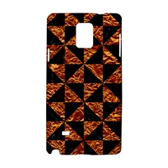 Triangle1 Black Marble & Copper Foil Samsung Galaxy Note 4 Hardshell Case by trendistuff