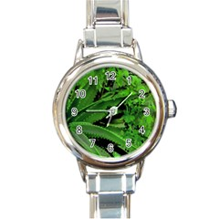 Vivid Tropical Design Round Italian Charm Watch by dflcprints