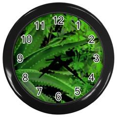 Vivid Tropical Design Wall Clocks (black) by dflcprints