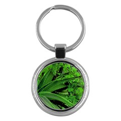Vivid Tropical Design Key Chains (round)  by dflcprints