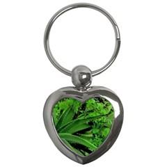 Vivid Tropical Design Key Chains (heart)  by dflcprints