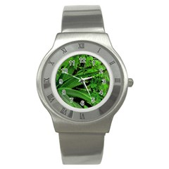 Vivid Tropical Design Stainless Steel Watch by dflcprints
