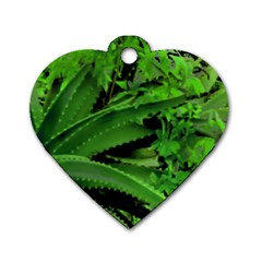 Vivid Tropical Design Dog Tag Heart (one Side) by dflcprints