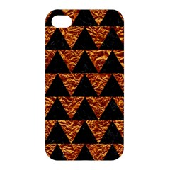 Triangle2 Black Marble & Copper Foil Apple Iphone 4/4s Premium Hardshell Case by trendistuff