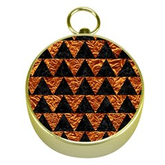 Triangle2 Black Marble & Copper Foil Gold Compasses by trendistuff