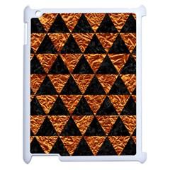 Triangle3 Black Marble & Copper Foil Apple Ipad 2 Case (white) by trendistuff
