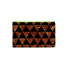 Triangle3 Black Marble & Copper Foil Cosmetic Bag (xs) by trendistuff