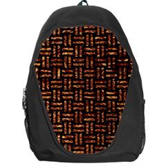 Woven1 Black Marble & Copper Foil Backpack Bag by trendistuff