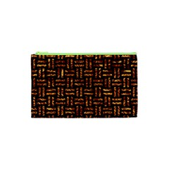 Woven1 Black Marble & Copper Foil Cosmetic Bag (xs) by trendistuff