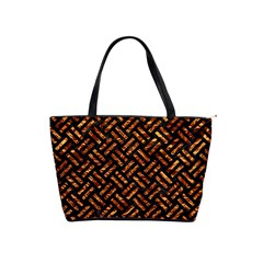 Woven2 Black Marble & Copper Foil Shoulder Handbags by trendistuff