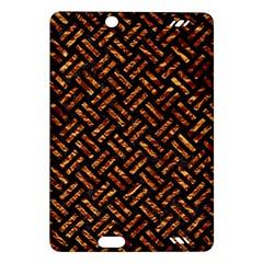 Woven2 Black Marble & Copper Foil Amazon Kindle Fire Hd (2013) Hardshell Case by trendistuff
