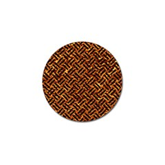 Woven2 Black Marble & Copper Foil (r) Golf Ball Marker (4 Pack) by trendistuff