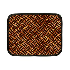 Woven2 Black Marble & Copper Foil (r) Netbook Case (small)  by trendistuff